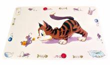 Trixie podložka pod misku s kotětem a myší 44x28cm