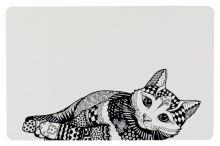 Trixie podložka pod misku kočka Zentangle 44x28cm