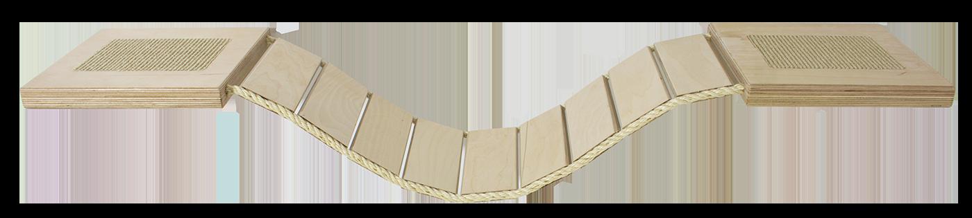 Rajen Závěsná lávka na zeď 150cm