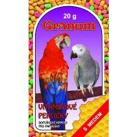 Granum vitamínové perličky s medem pro velké papoušky 20g