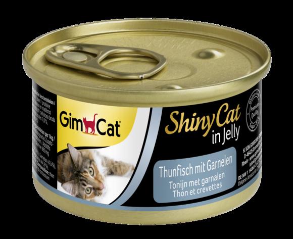 GimCat ShinyCat tuňák & krevety 70g 1 + 1 zdarma!