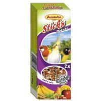 Avicentra malý papoušek tyčinky ovoce a ořech 2ks 110g