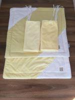 Rajen plyšový set do klece žlutý (malý)