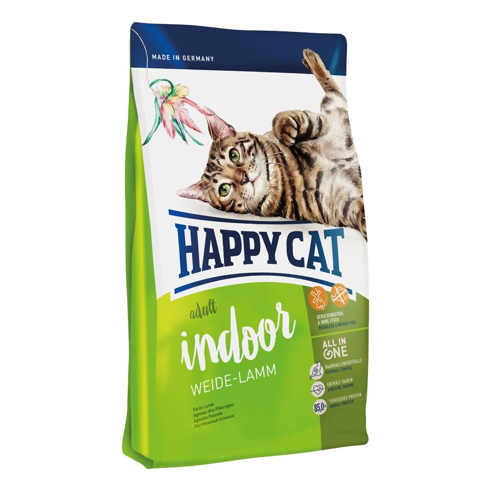 Happy Cat Indoor Weide-Lamm (jehněčí) 1,4kg 1+1 zdarma