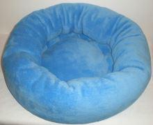 Rajen plyšový pelíšek pro kočky modrý
