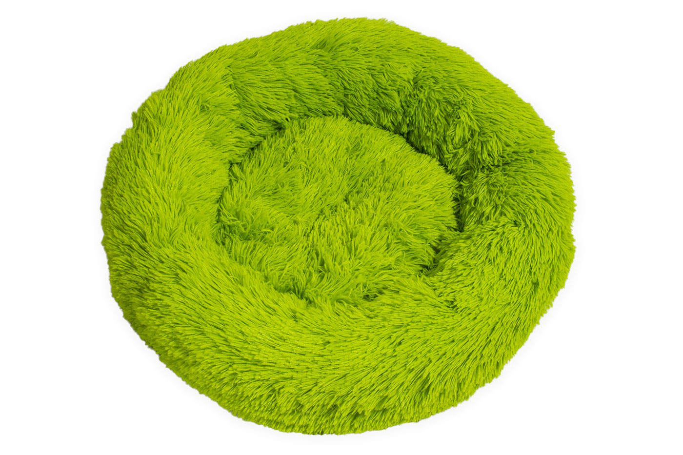 Rajen Komfy round cat bed, lime green 50cm