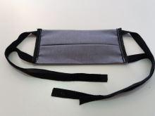 Ochranná rouška z bavlny tmavě šedá (provázky)