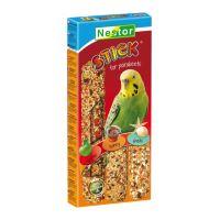 Nestor tyčinky pro papoušky 3v1 s jablkem, medem a mušlemi 3ks