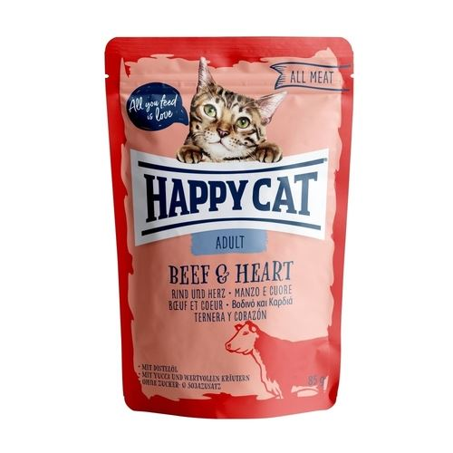 Happy Cat kapsička All Meat Adult Beef & Heart 85g
