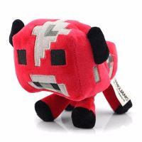 Plyšová Minecraft kráva (červená)