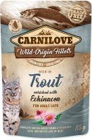 Carnilove Cat kapsička pstruh s třapatkovkou 85g