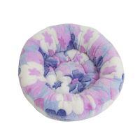 Rajen kulatý pelíšek 50cm, vzor květinkový