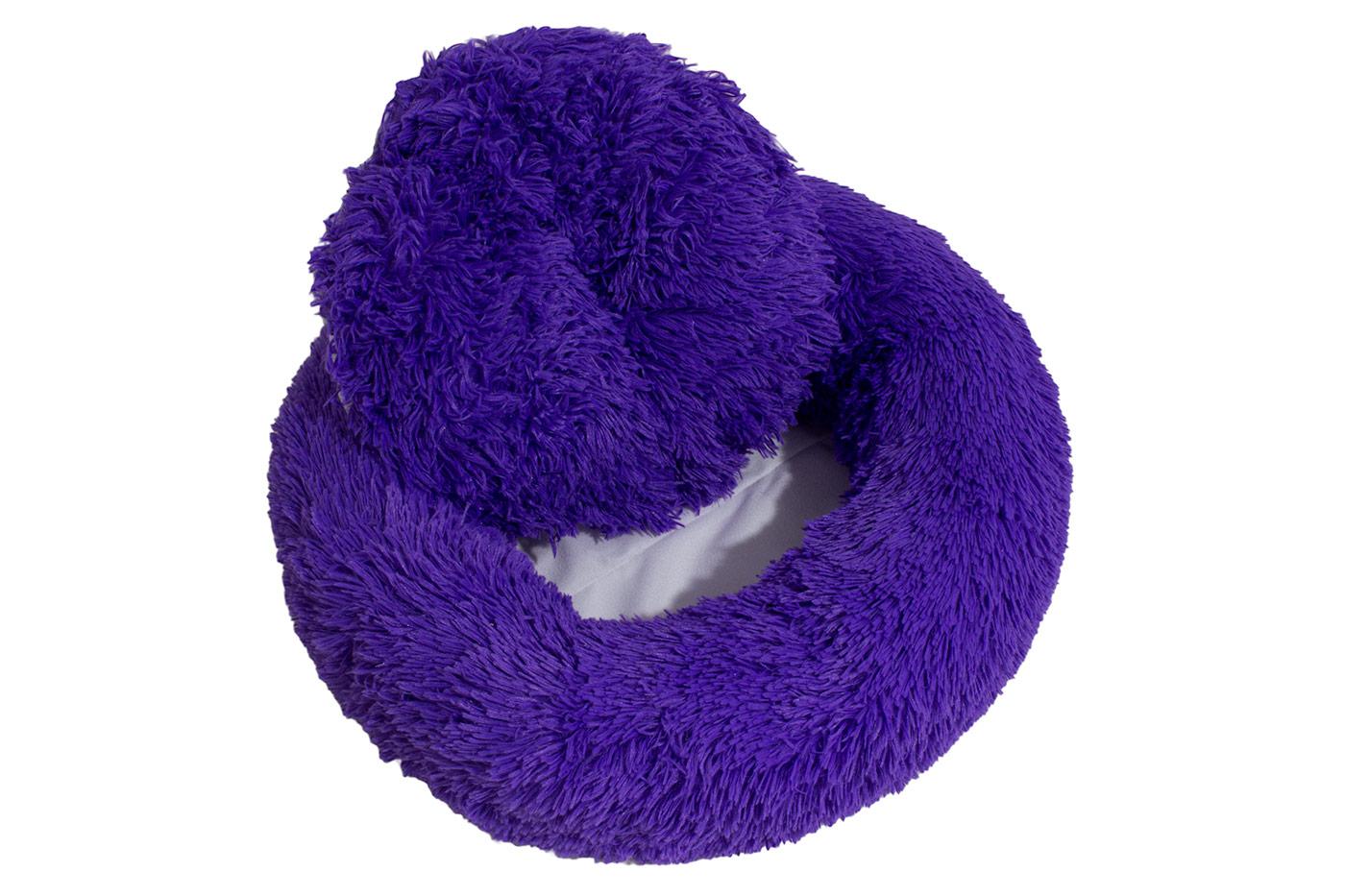 Rajen Komfy round cat bed, purple 50cm