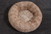 Rajen Komfy round cat bed, light brown 50cm
