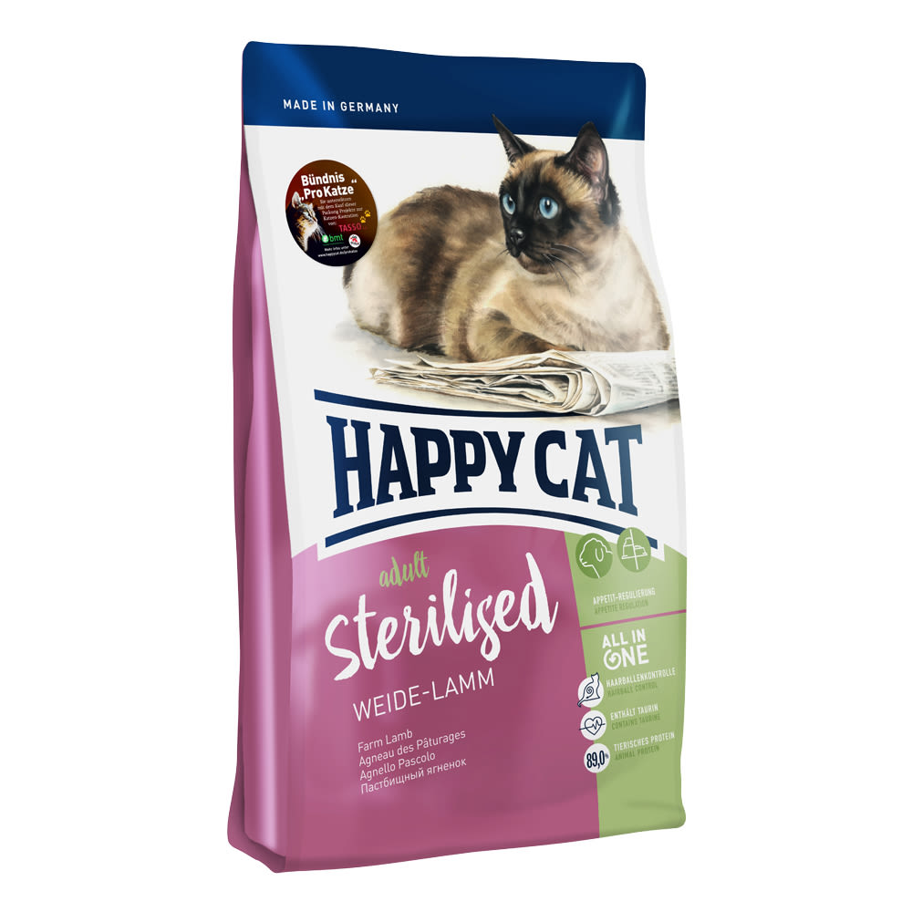 Happy Cat Sterilised Weide-Lamm (jehněčí) 4kg
