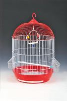Cage round, hanging, red