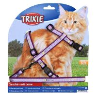 Trixie harness for cat with leash XL purple 34 - 57cm / 13 mm