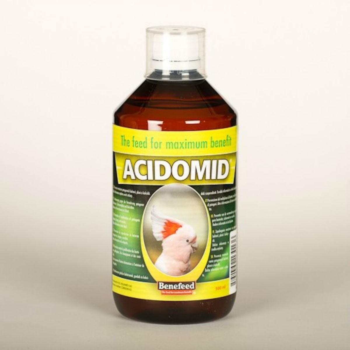 Acidomide E bacterial prevention for exotic 500ml