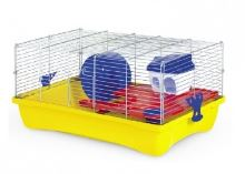 MPS Italia klec pro křečka Hamster Flat 10 s výbavou 58x32x26cm