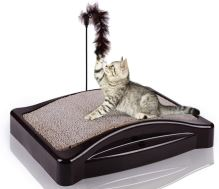Scratching board for cats with a catnip 44x34cm