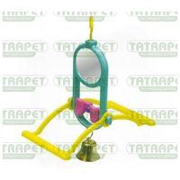 Ptačí zrcátko +zvonek+bidýlko 17cm Tatrapet