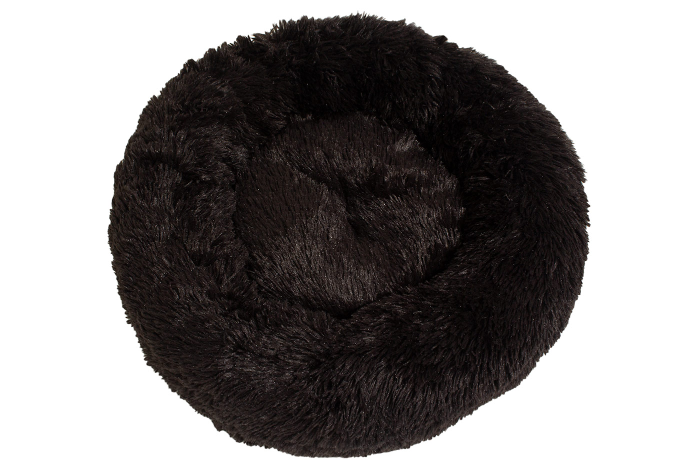 Rajen Komfy round cat bed, charcoal brown 50cm