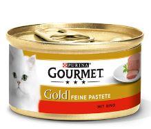 Paštika Gourmet Gold s hovězím 85g