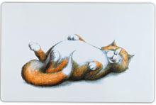 Trixie podložka pod misku s ležící tlutou kočkou 44x28cm