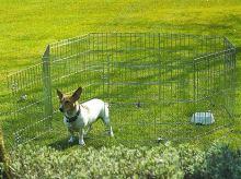 Rajen ohrádka pro psy Dogland M (8 dílů o velikosti 75x60cm)