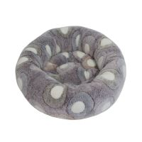 Rajen round cat bed 50cm, circles on grey and blue