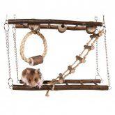 Trixie Natural Living dřevěný most dvojitý pro myši, křečky 27x17x7cm