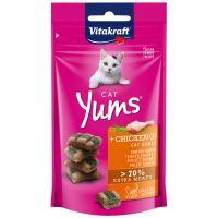 Vitakraft Cat Yums kuře & kočičí tráva polštářky 40g