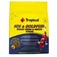 Tropical Koi & Goldfish Wheat Germ & Garlic Sticks 1000ml (90g)