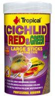 Tropical Cichlid Red & Green Large Sticks 1000ml (300g)