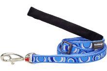 Red Dingo vodítko vzor circadelic modré, 25mm, 1-1,8m