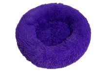 Rajen Komfy kulatý pelíšek pro kočky, fialový 50cm