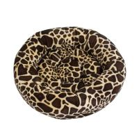 Rajen round cat bed 50cm, giraffe pattern