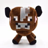 Plyšová Minecraft kráva, malá (hnědá)