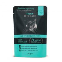 Fitmin For Life Cat losos kastrované 85g