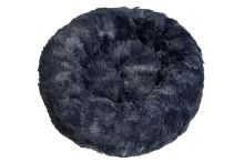 Rajen Komfy round cat bed, dark navy 50cm