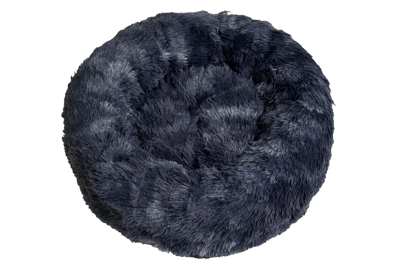Rajen Komfy round cat bed, dark navy 50cm